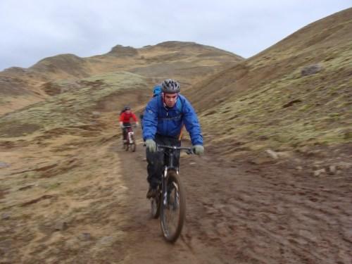 Biking through the valley