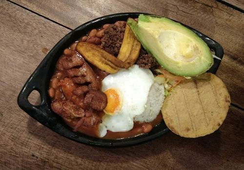 Bandeja Paisa, traditional Colombian food