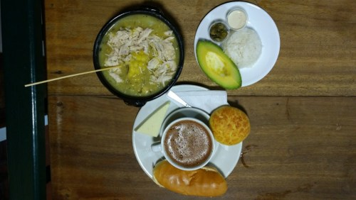 Traditional food from Bogota
