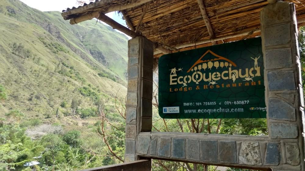 Eco Quechua sign