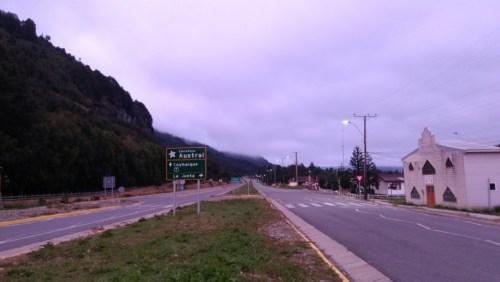 Carretera road sign in La Junta