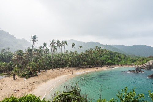the beach at Tayrona