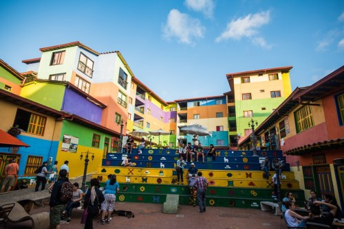 colourful square in Guatape