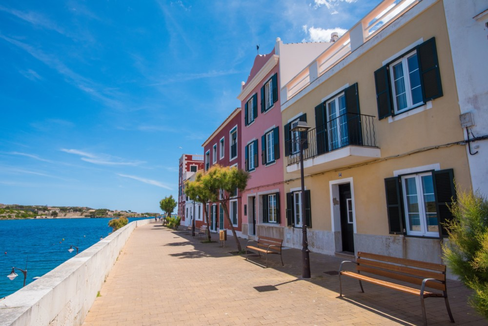 Colourful houses in Menorca