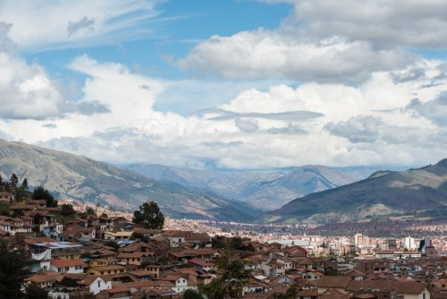 The view from the top of Cusco