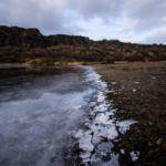Ice in Þingvellir National Park