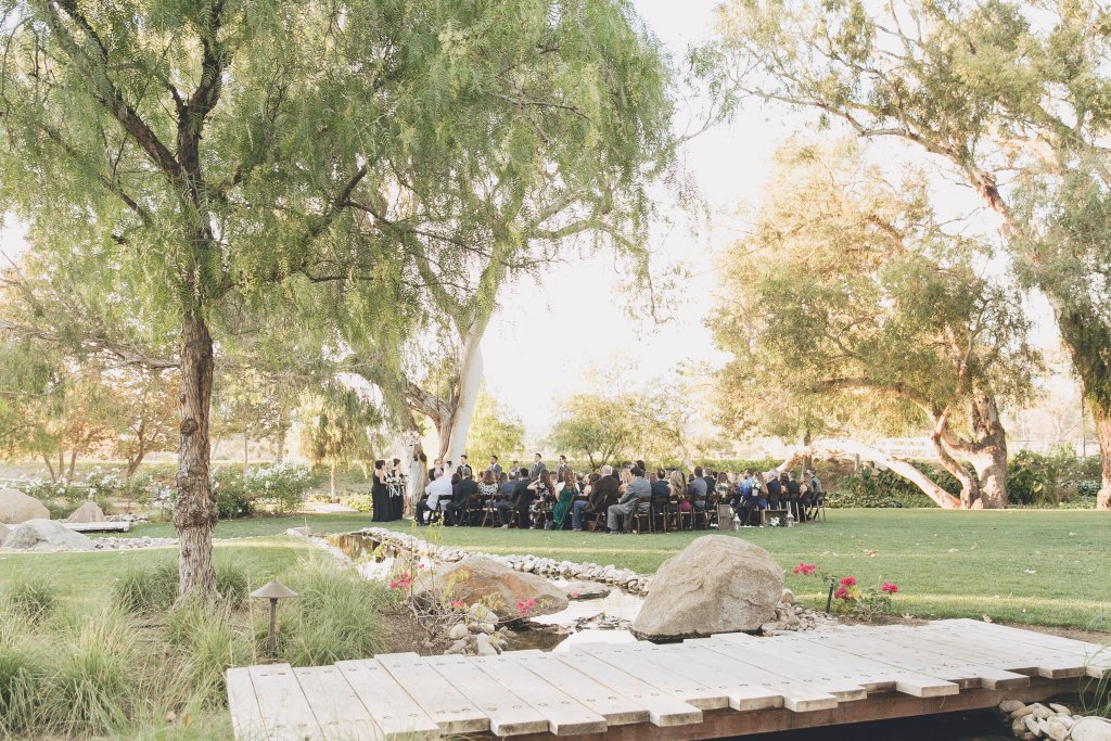 Outdoor wedding ceremony at Temecula wedding at wedgewood galway downs wedding venue
