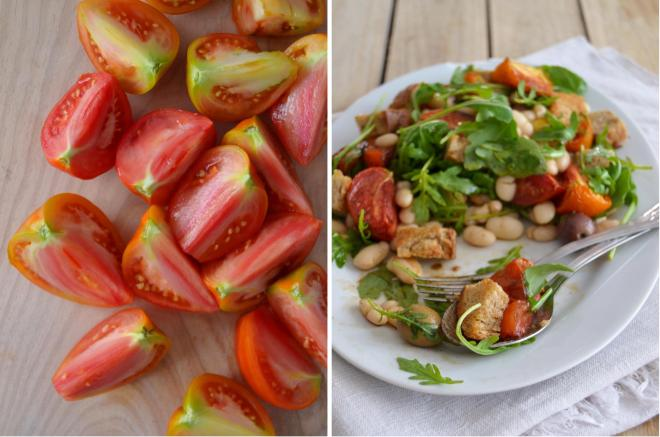 Salada de feijão branco com tomate assado // White bean salad with roasted tomatoes