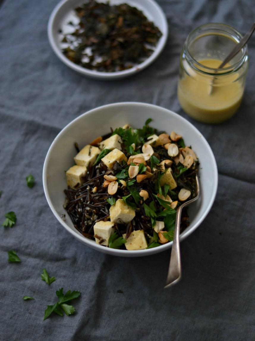wild rice with seaweed and tofu1