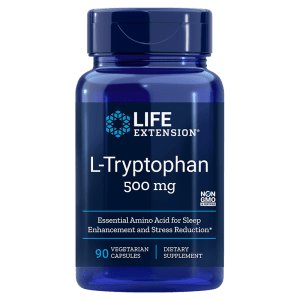 Life Extension L-Tryptophan, 500 mg, 90 vegetarian capsules