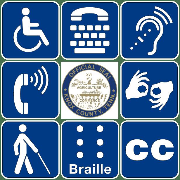 ADA symbol Knox County