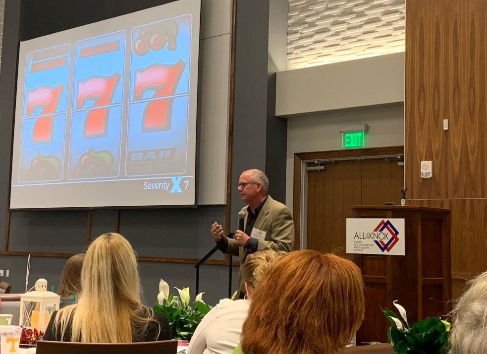 Dr. Stephen Loyd at All4Knox Summit
