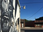 Cal Johnson mural in Burlington