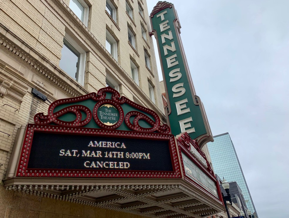 Tennessee Theatre sign
