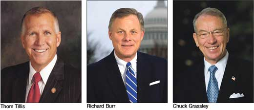Image result for IMAGES Sens. Thom Tillis and Richard Burr