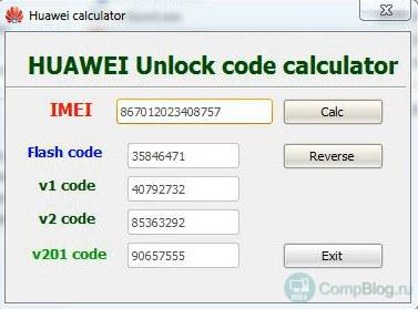 Modeem Huawei lukitus.