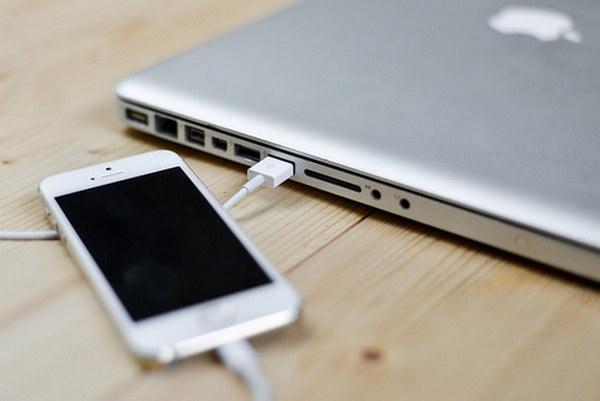 Telefon USB'ye bağlı