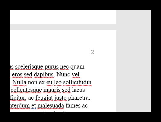 صفحات شماره گذاری در کلمه