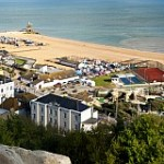 Hastings Seafront from Castle Rocks