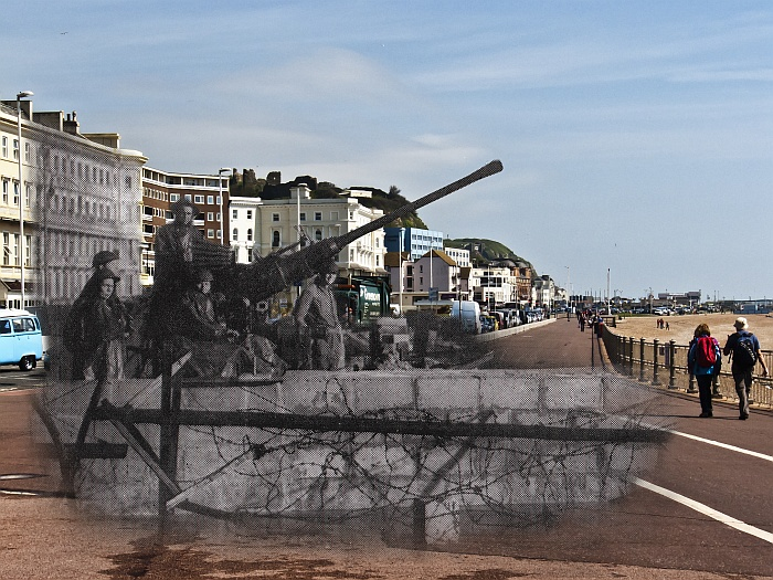 Anti Aircraft Gun Hastings Seafront