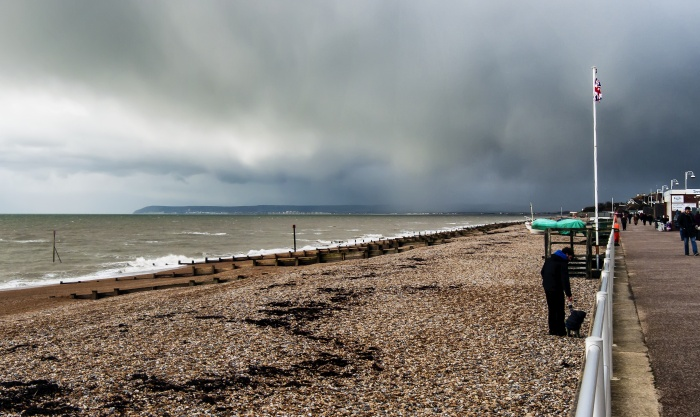 Rains over Beachy Head
