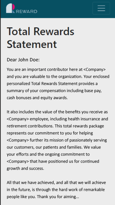 Total reward statement