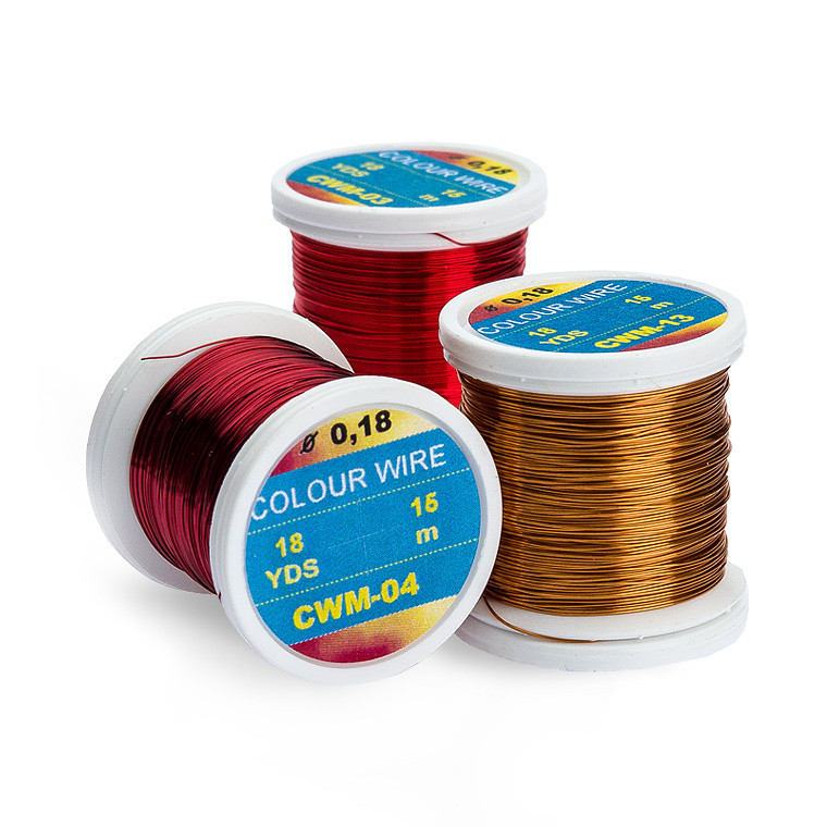 Hends Colored Wires 0.18mm / Medium (18 yds) - Competitive Angler