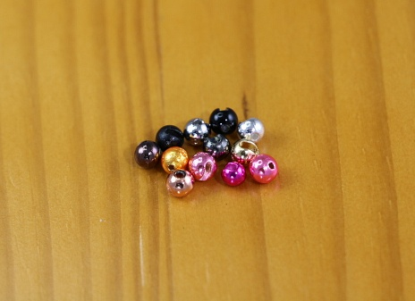 Pick Size 100 Tungsten Slotted Beads Fly Tying Black Color Fishing
