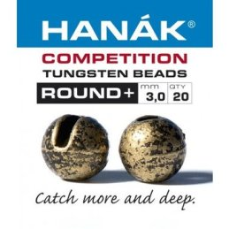 Hanak Round + Slotted Tungsten Beads (Bronze/20 Pack)