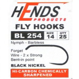 Hends Barbless Hooks BL 254 Nymph/Wet