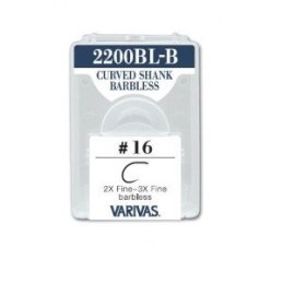 Varivas 2200BL-B Curved Shank Barbless Hooks (30 Pack)
