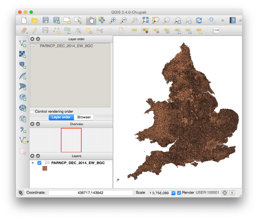 England + Wales Parish boundaries in QGIS