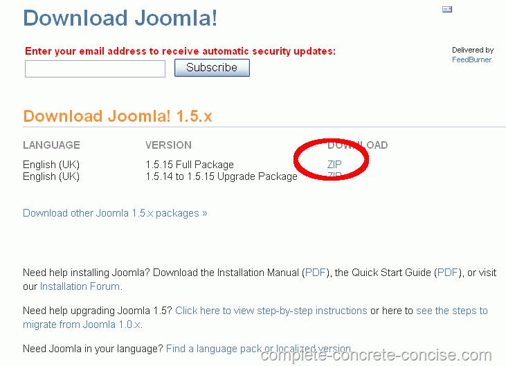 installing joomla 1 5 under xampp complete concrete concise rh complete concrete concise com Caffeine Molecule Dating Joomla Template