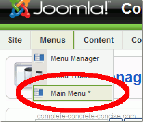 joomla-backend-main-menu-selection