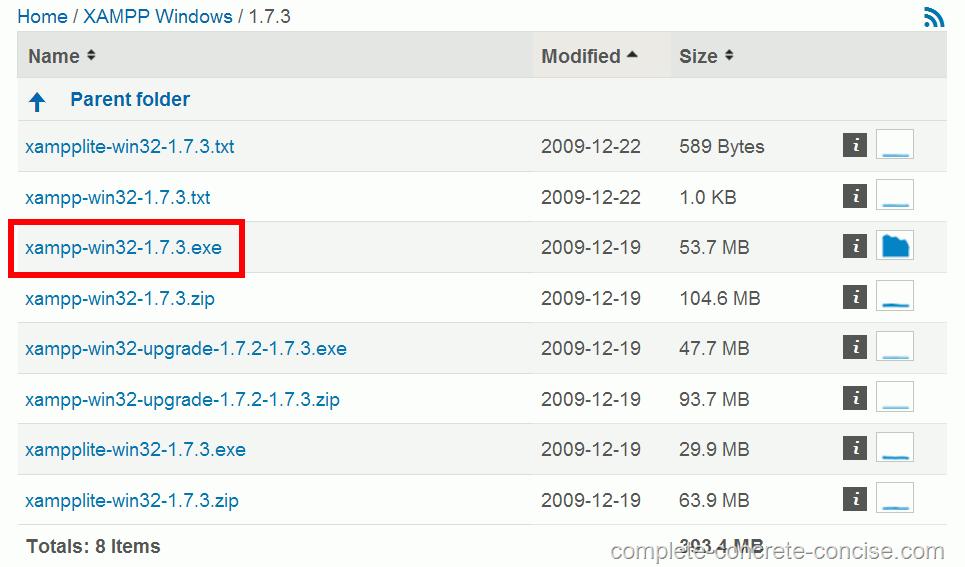 xampp 1.7.3 pour windows 7