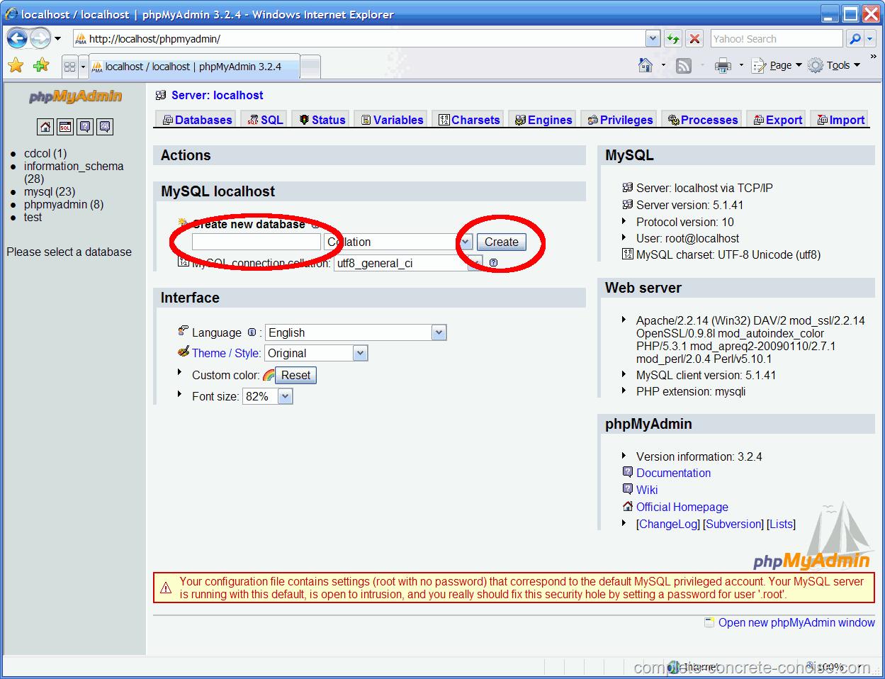 Mysql admin - Creating A Mysql Database Using Xampp