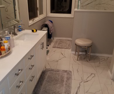 after bathroom remodel