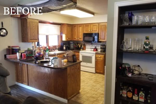 stunning brown kitchen before
