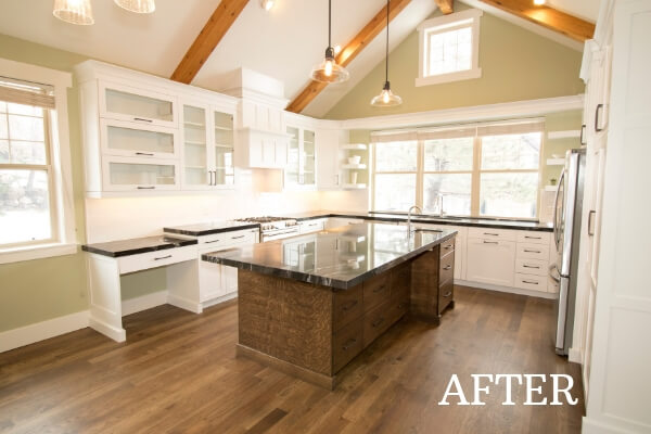 Gorgeous custom kitchen after