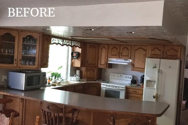 elegant white kitchen before
