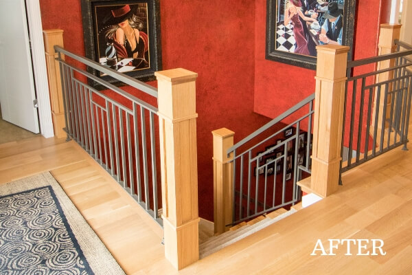 custom stair case remodel after