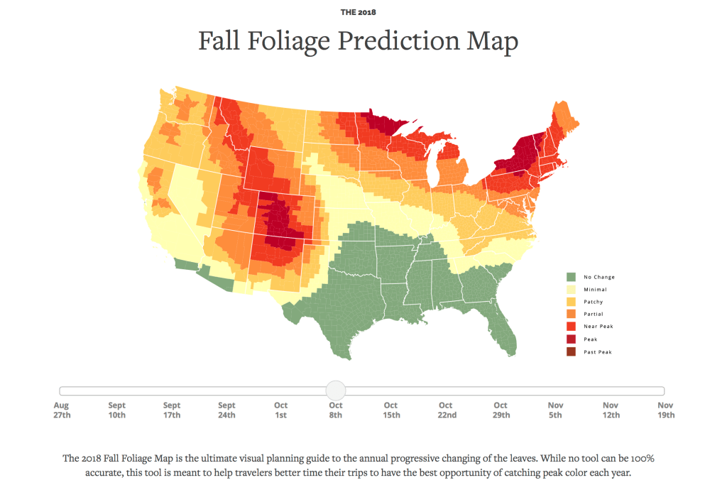 smokymountains.com foliage predictor