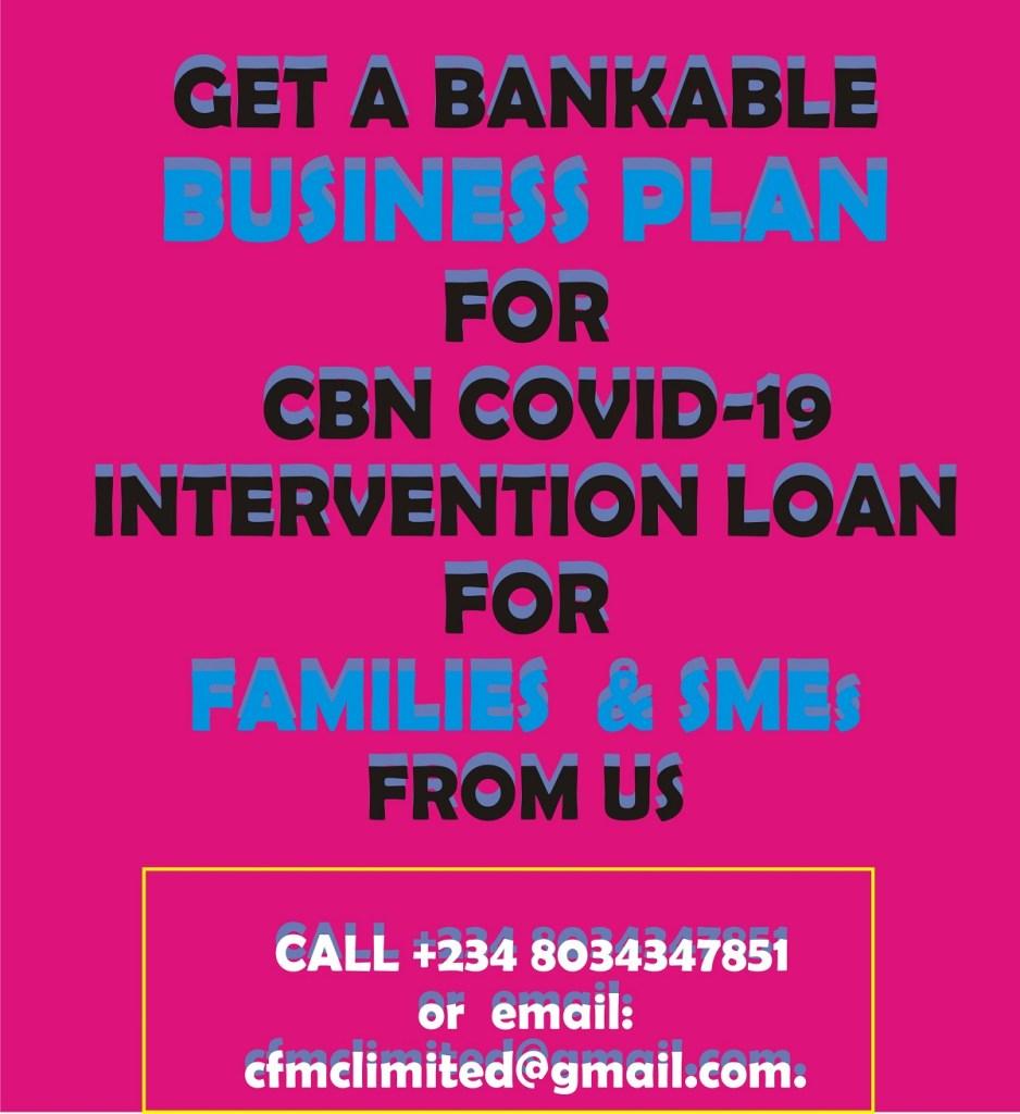 COVID-19 CBN Intervention Fund  Application Form