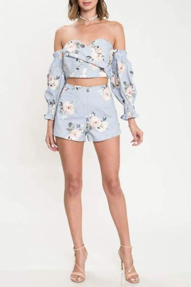 two-piece-matching-set-blue-floral-shorts-ruffle