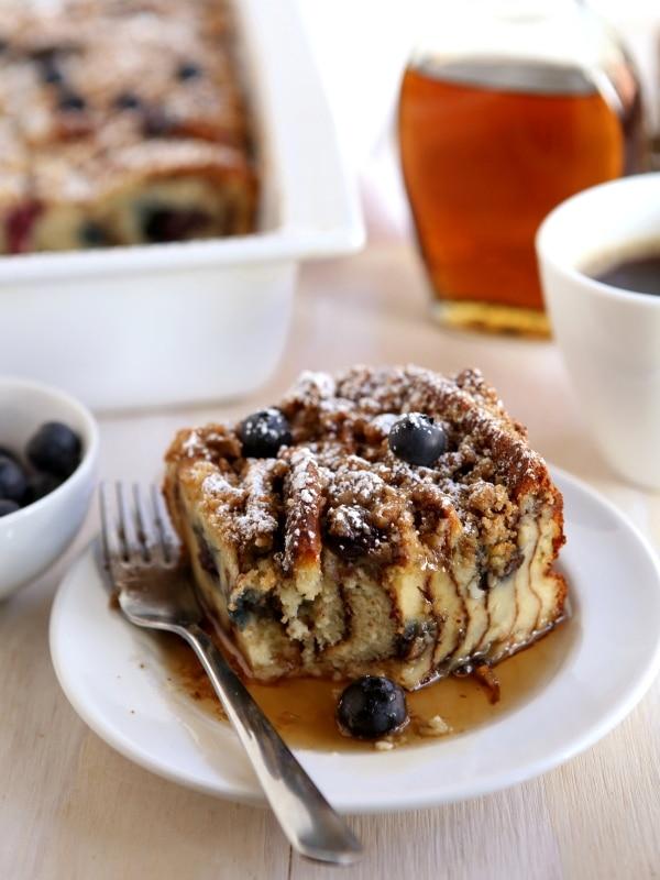 Blueberry Pancake Bake | completelydelicious.com