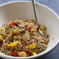 Farro Salad with Tomato and Basil from completelydelicious.com