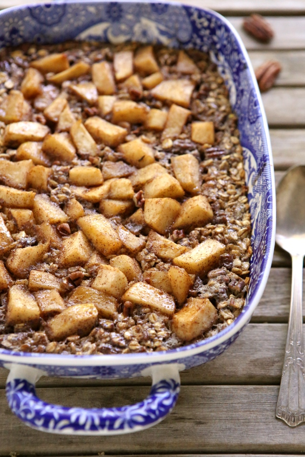 Apple Cinnamon Pecan Baked Oatmeal from completelydelicious.com