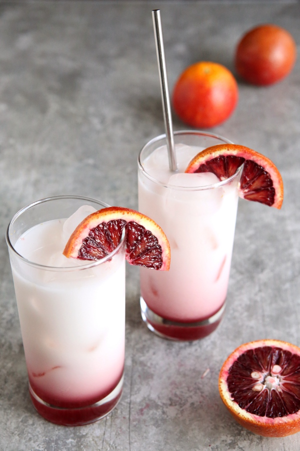 Blood Orange Italian Sodas | completelydelicious.com