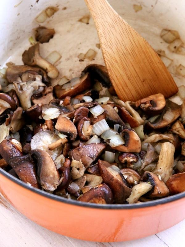 Mushroom Ragu with Cheesy Polenta | completelydelicious.com