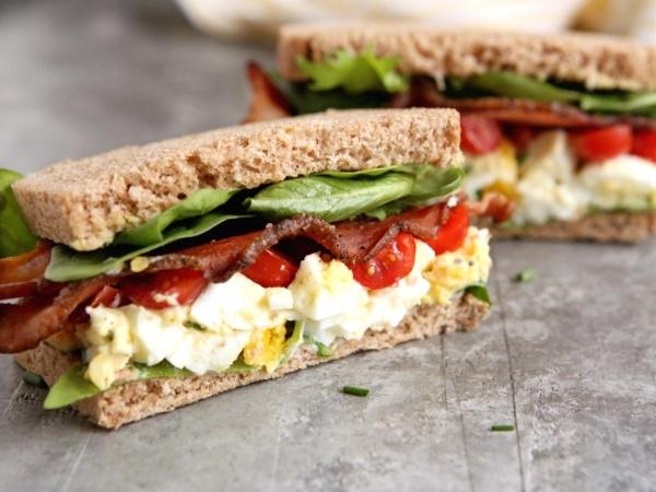BLT Egg Salad Sandwiches | completelydelicious.com